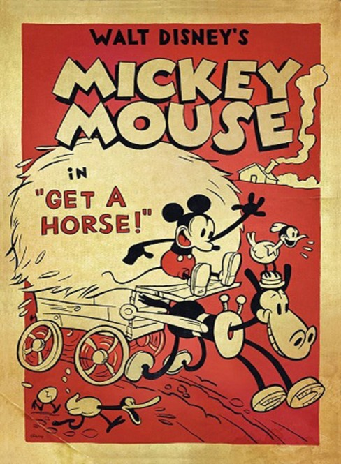Mickey à cheval ! - Poster