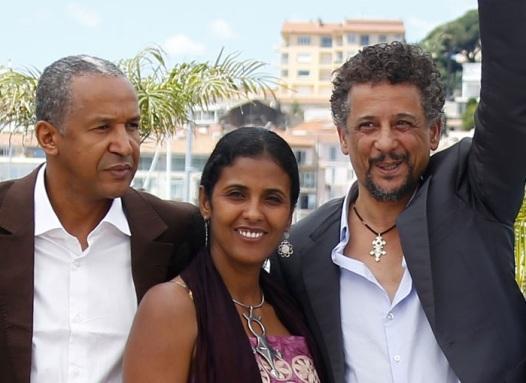 Le réalisateur et deux de ses acteurs à Cannes