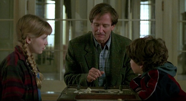 Jumanji Kirsten Dunst, Robin Williams and Bradley Pierce