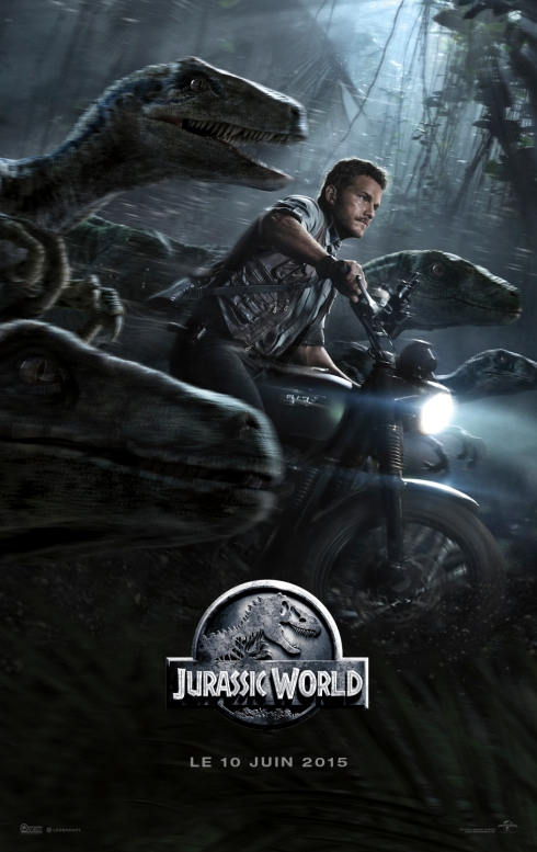 JURASSIC-WORLD-Affiche-France-Chris-Pratt-et-ses-Raptors