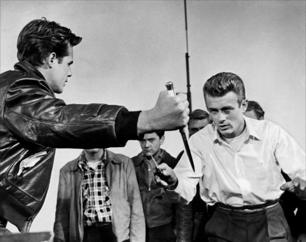 James Dean dans La Fureur de vivre (1955).