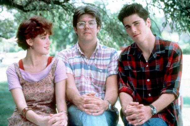 Molly Ringwald, director John Hughes, Justin Henry