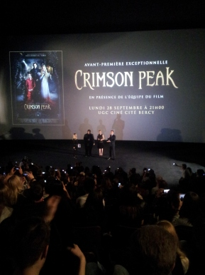 Rencontre : Guillermo Del Toro, Tom Hiddleston et Mia Wasikowska pour «Crimson Peak»